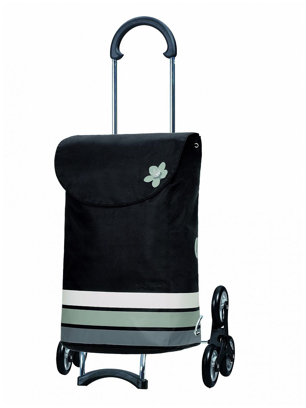 Andersen Nákupní taška na kolečkách do schodů SCALA SHOPPER TREPPENSTEIGER® BLOM 119-101-20 černo-šedá