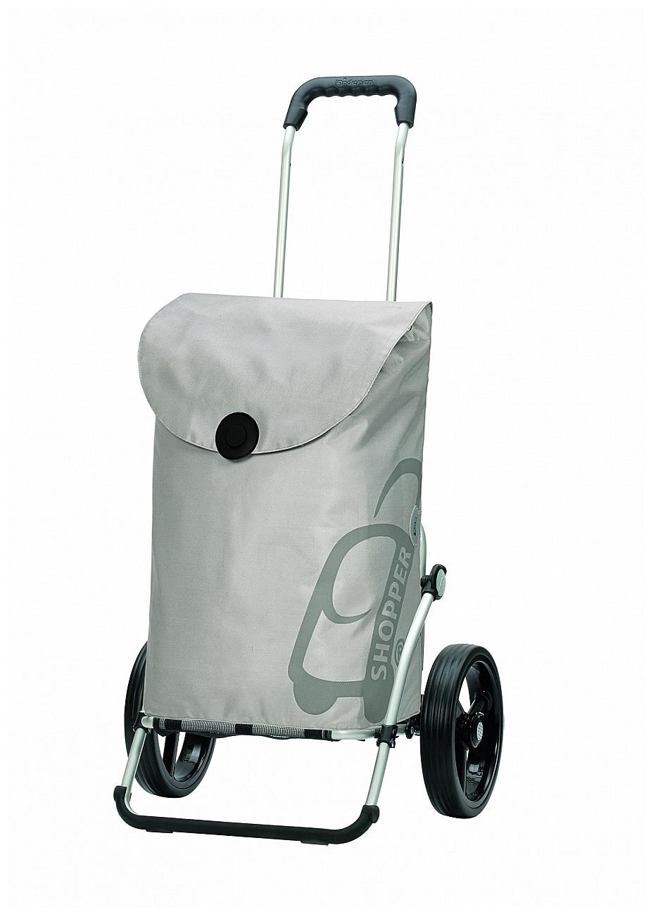 Andersen Nákupní taška na kolečkách ROYAL SHOPPER® PEPE 166-050-20 stříbrná