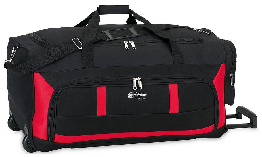 Southwest Cestovní taška na kolečkách 30180-0102 černo-červená