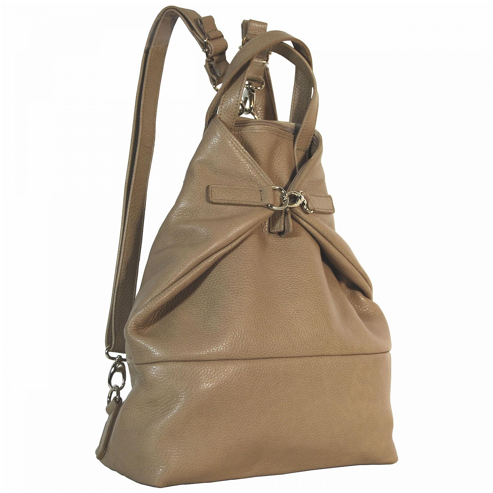 c5d71b6a2e7 JOST Dámský kožený batoh - kabelka VIKA 1910 X-Change 3in1 béžový