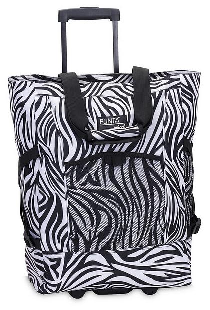 PUNTA wheel Nákupní taška na kolečkách 10013-0120 černo-bílá