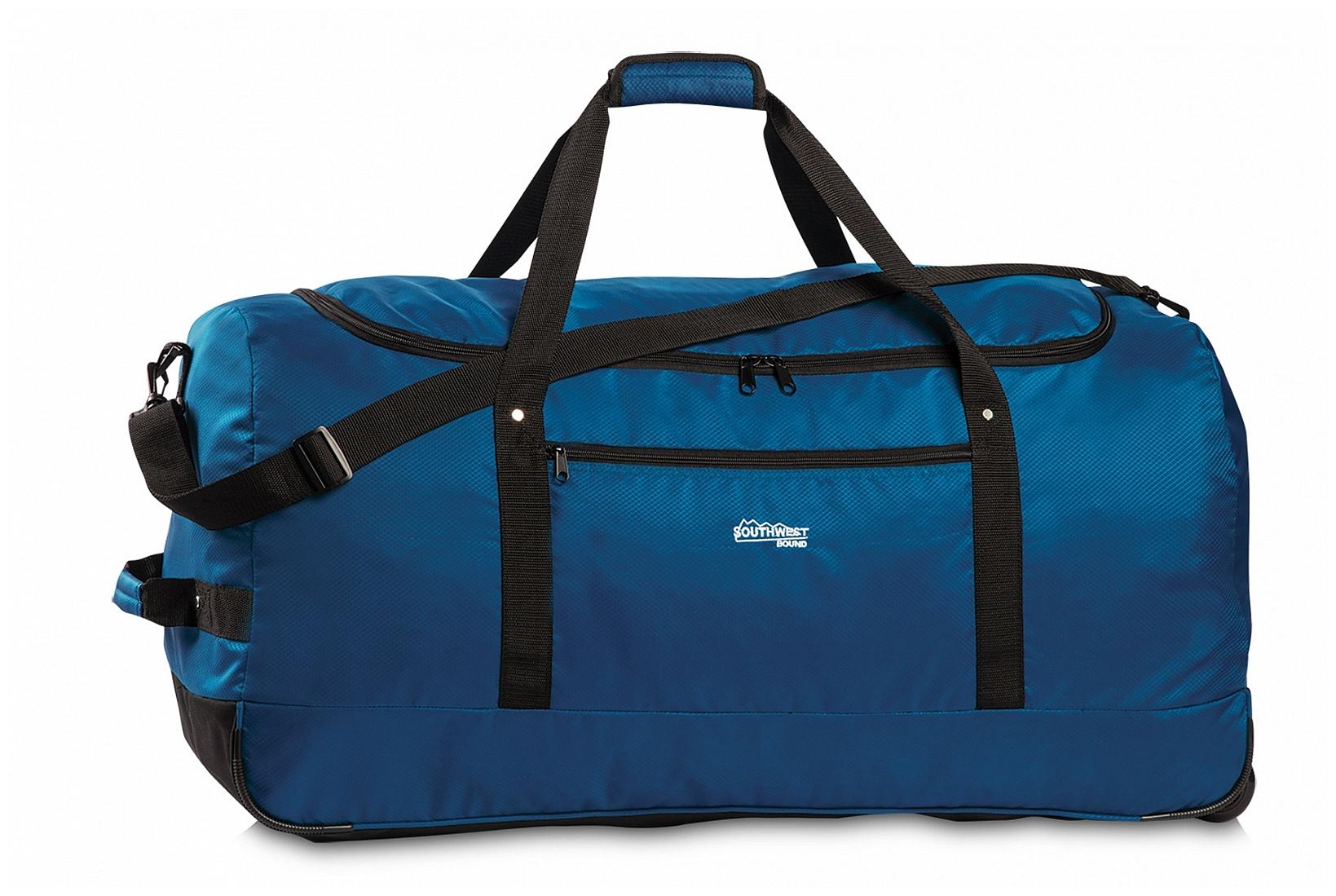 Southwest Skládací XXL cestovní taška na kolečkách 30232-0500 modrá