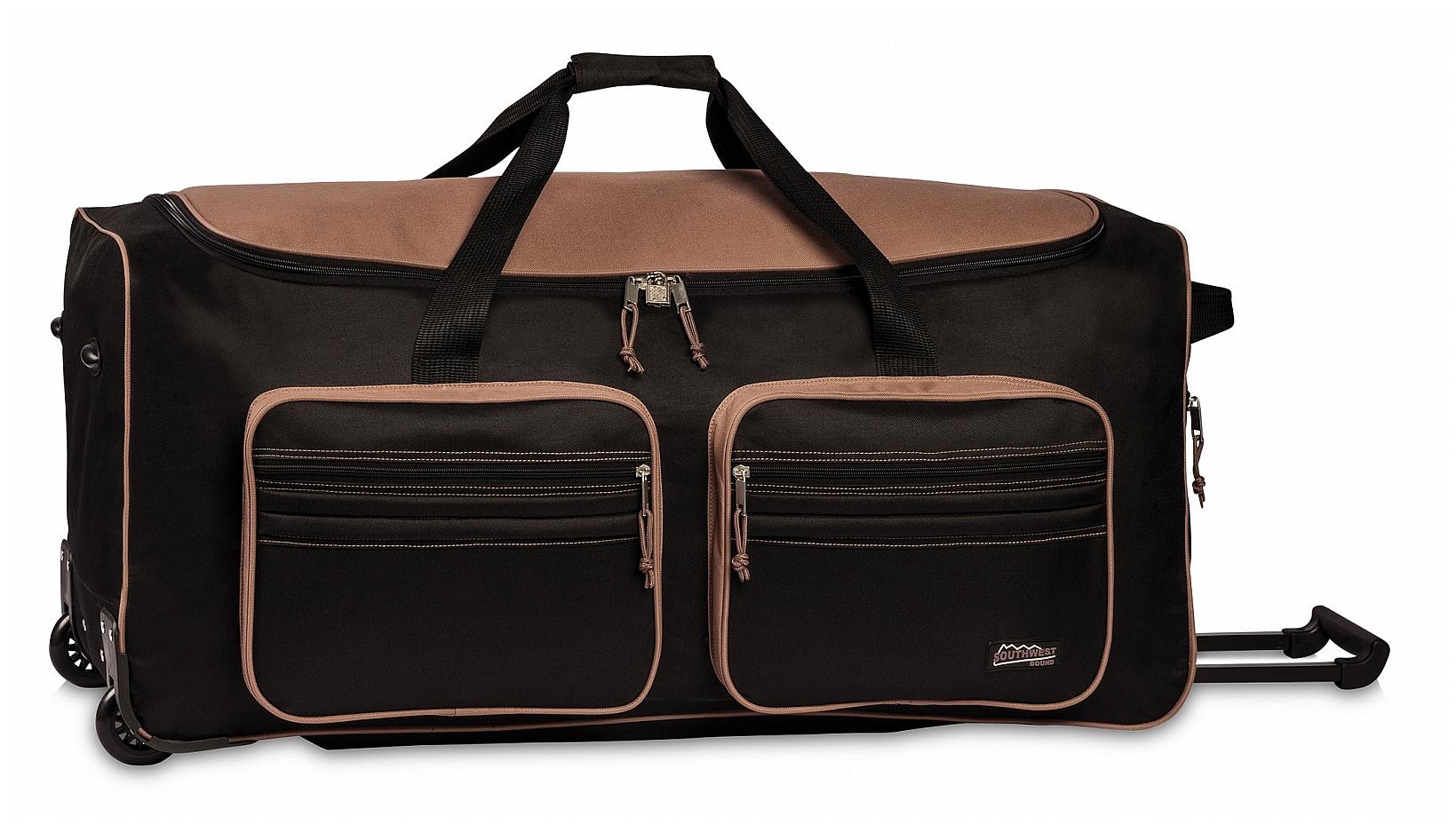 Southwest XXL cestovní taška na kolečkách 30059-0127 černo-hnědá