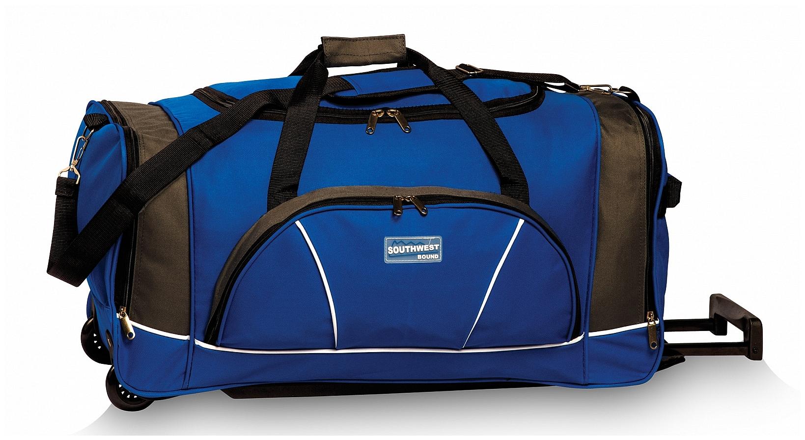 Southwest Cestovní taška na kolečkách 30264-0517 modro-šedá