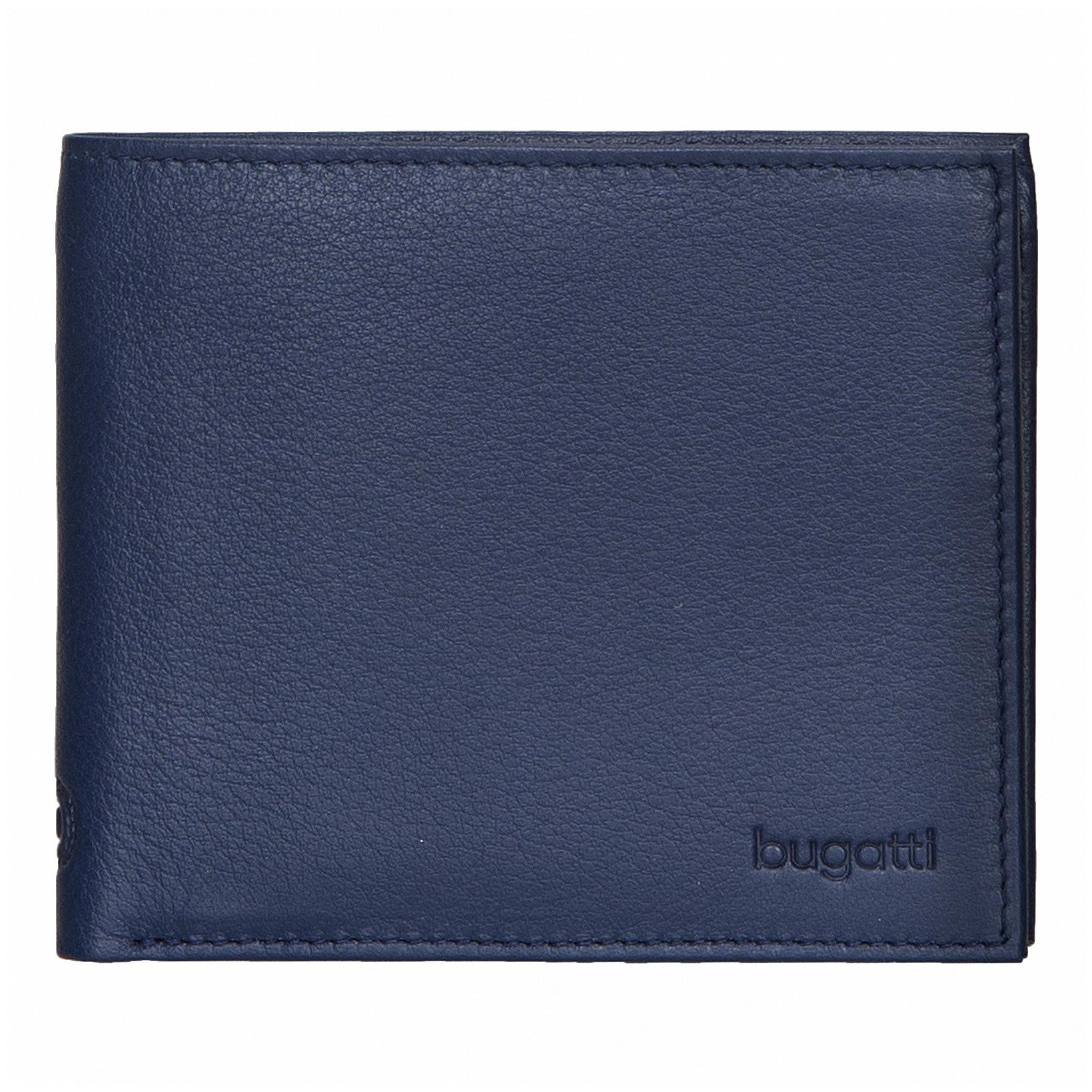 Bugatti Pánská kožená peněženka SEMPRE 49117905 modrá 9efbfe913a