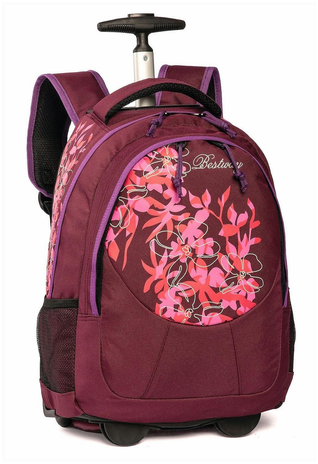 cdbabe16569 BestWay Školní batoh na kolečkách 40028-1922 fialový