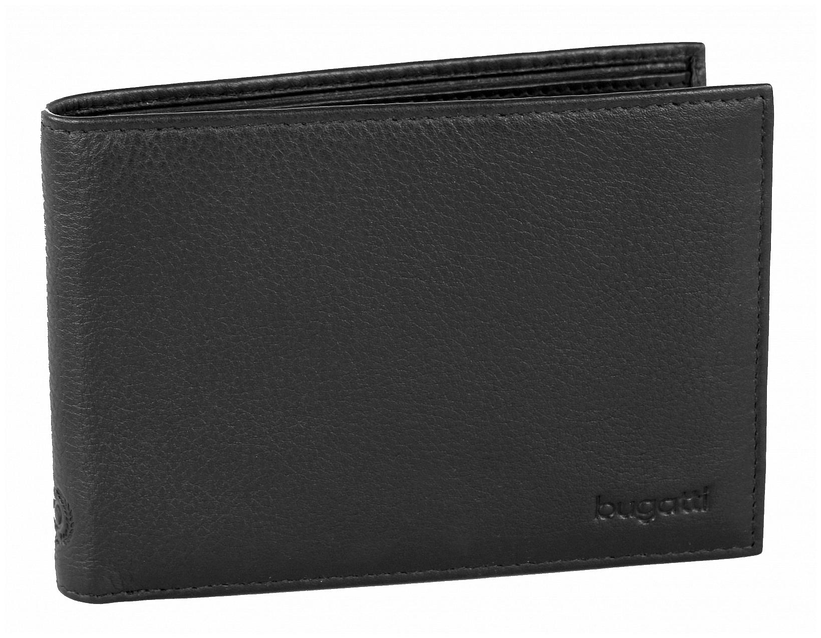 Bugatti Pánská kožená peněženka SEMPRE 49117701 černá