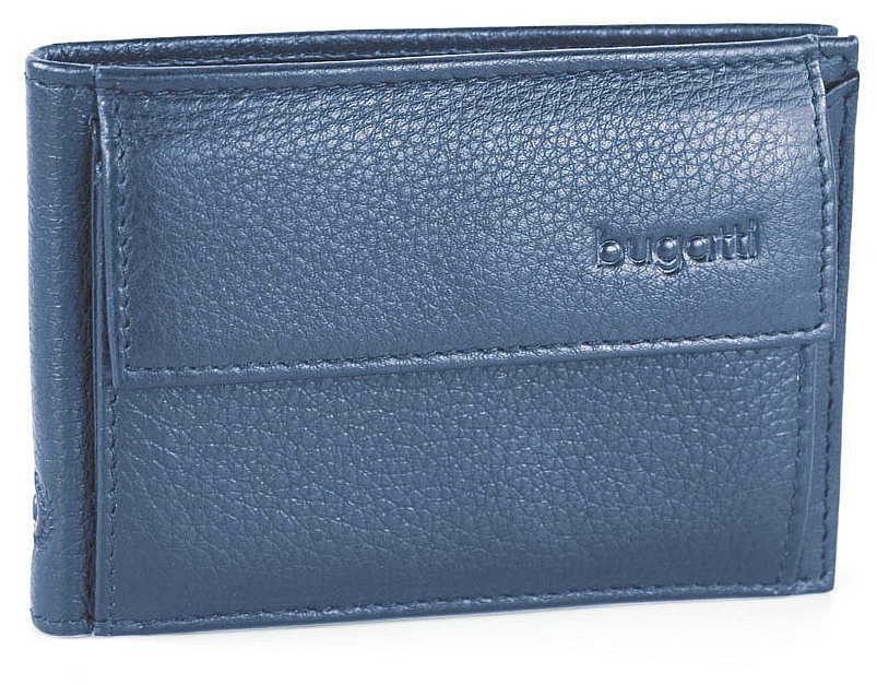 Bugatti Pánská kožená peněženka SEMPRE 49118005 modrá