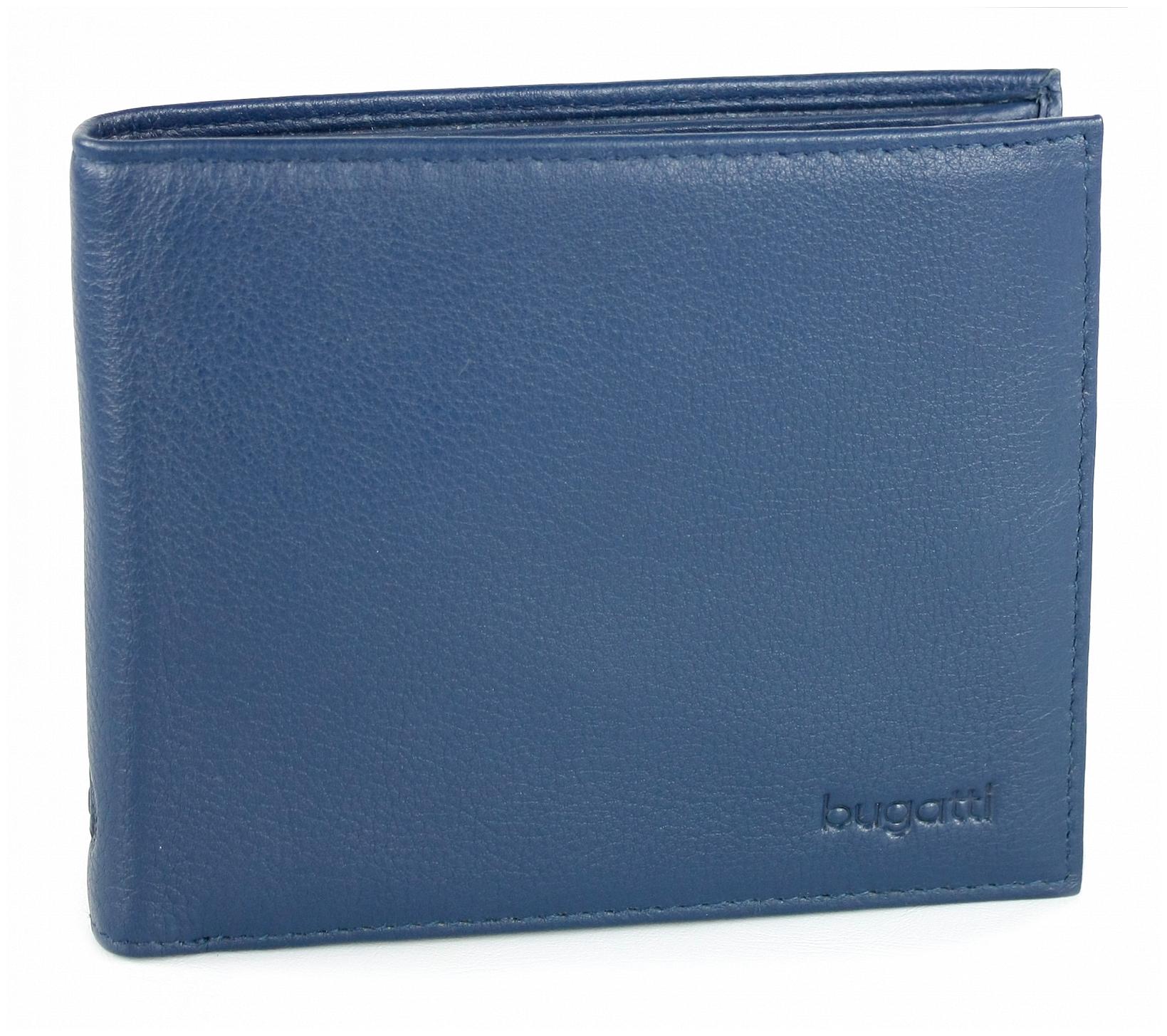 Bugatti Pánská kožená peněženka SEMPRE 49117805 modrá