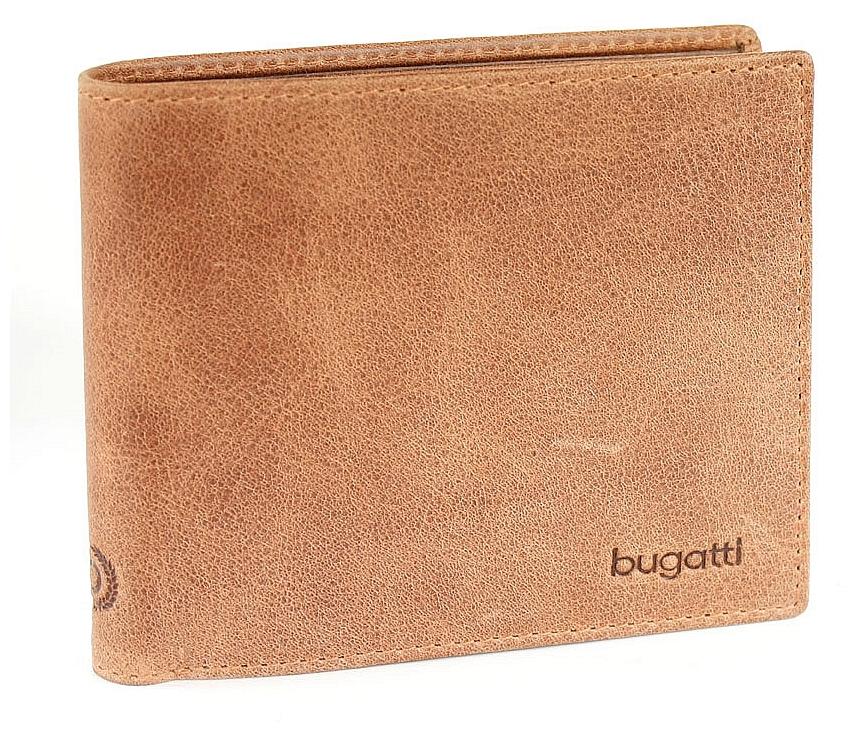 Bugatti Pánská kožená peněženka VOLO 49218207 koňak