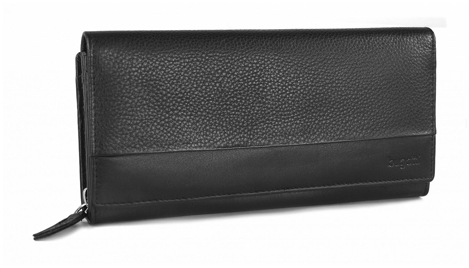Bugatti Dámská kožená peněženka ATLANTA 49321001 černá