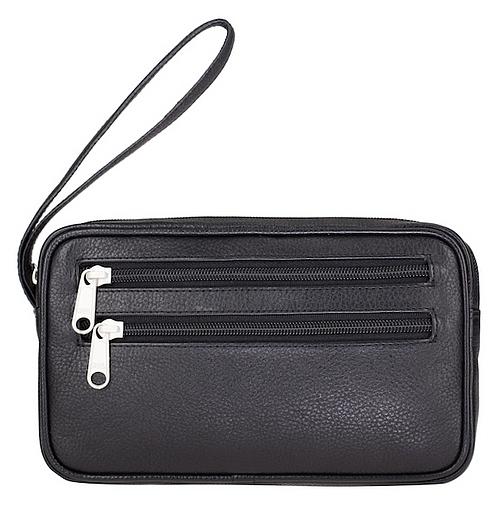 ESTELLE Kožená taška na doklady 8010 černá