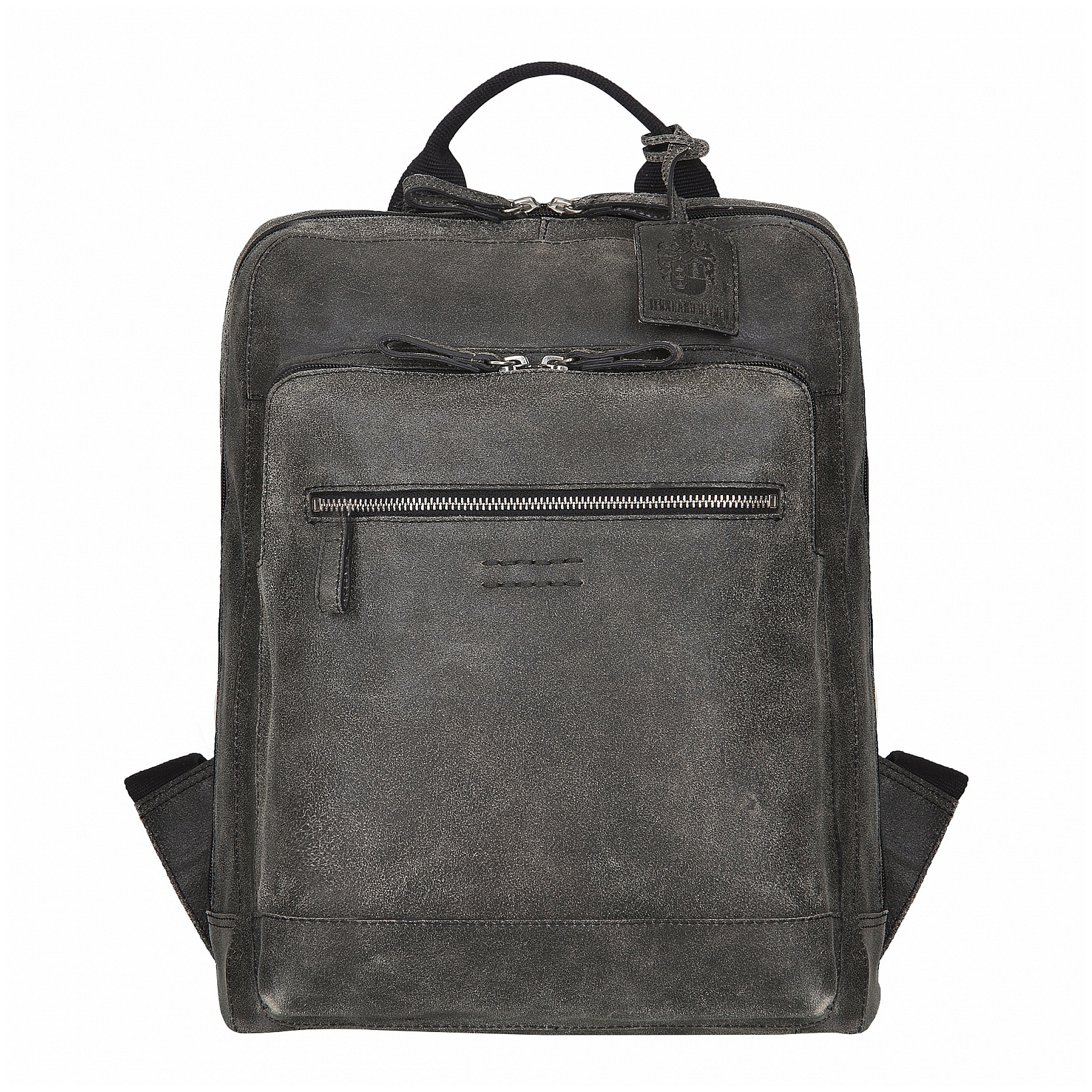 5afd5654cde LEONHARD HEYDEN Moderní kožený batoh na notebook BOSTON 5230-003 šedý