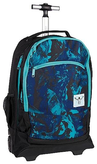 CHIEMSEE Batoh na kolečkách s vysouvací rukojetí WHEELY 5021005-00041 černo-modrý