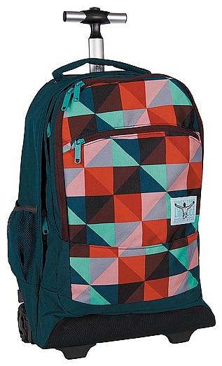 CHIEMSEE Batoh na kolečkách s vysouvací rukojetí WHEELY 5021005-00051 modro-červený