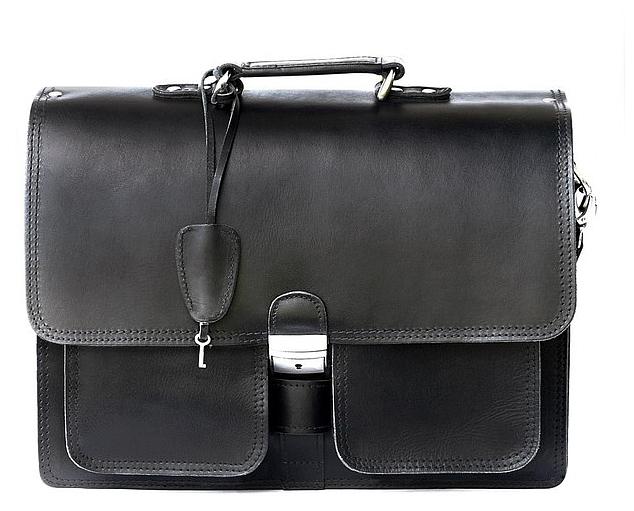 Hamosons Pánská kožená aktovka 651 černá