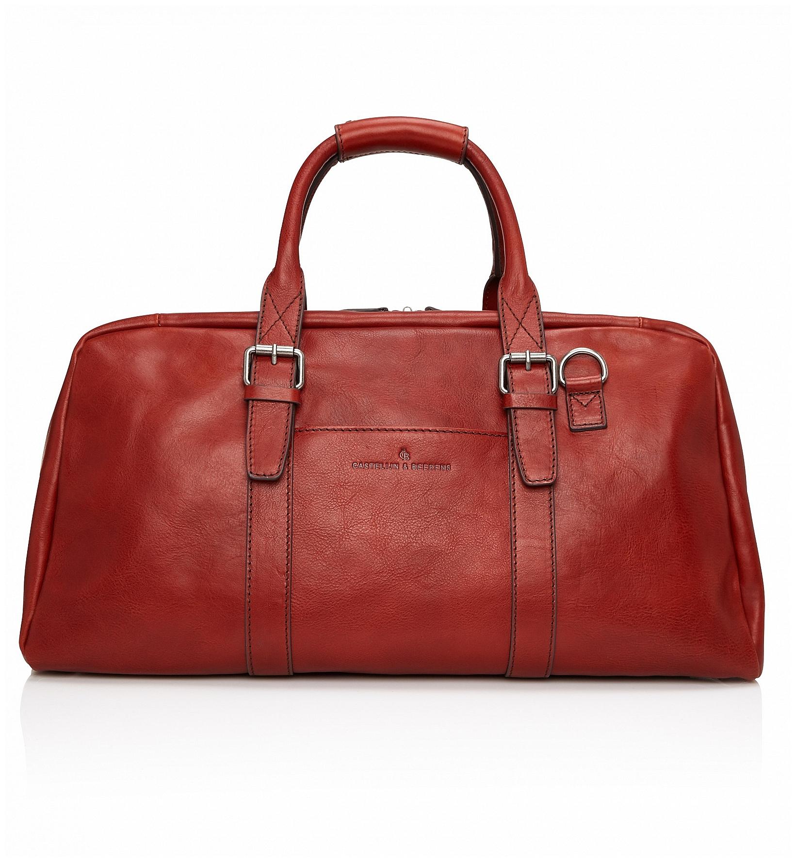 Castelijn & Beerens Elegantní kožená cestovní taška 639320 Bravo hnědočervená