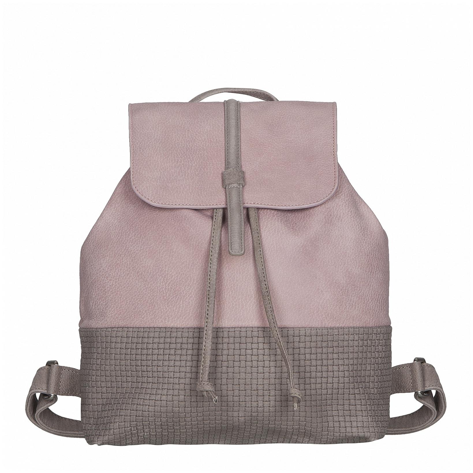 JOST Dámský kožený batoh TRECCIA 2586-995 růžovo-šedý