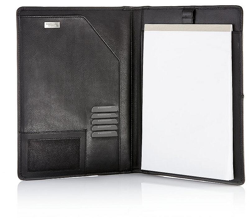 BODENSCHATZ Kožené konferenční desky s blokem 8-060 JM černá