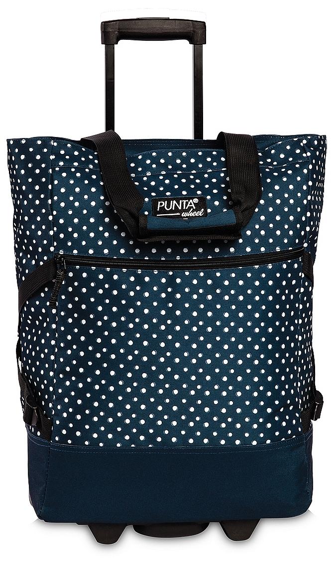 PUNTA wheel Nákupní taška na kolečkách 10008-5020 modro-bílá