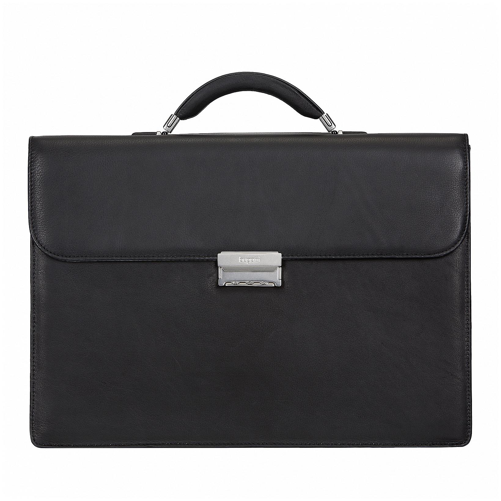 Bugatti Kožená aktovka na notebook SARTORIA 49545801 černá