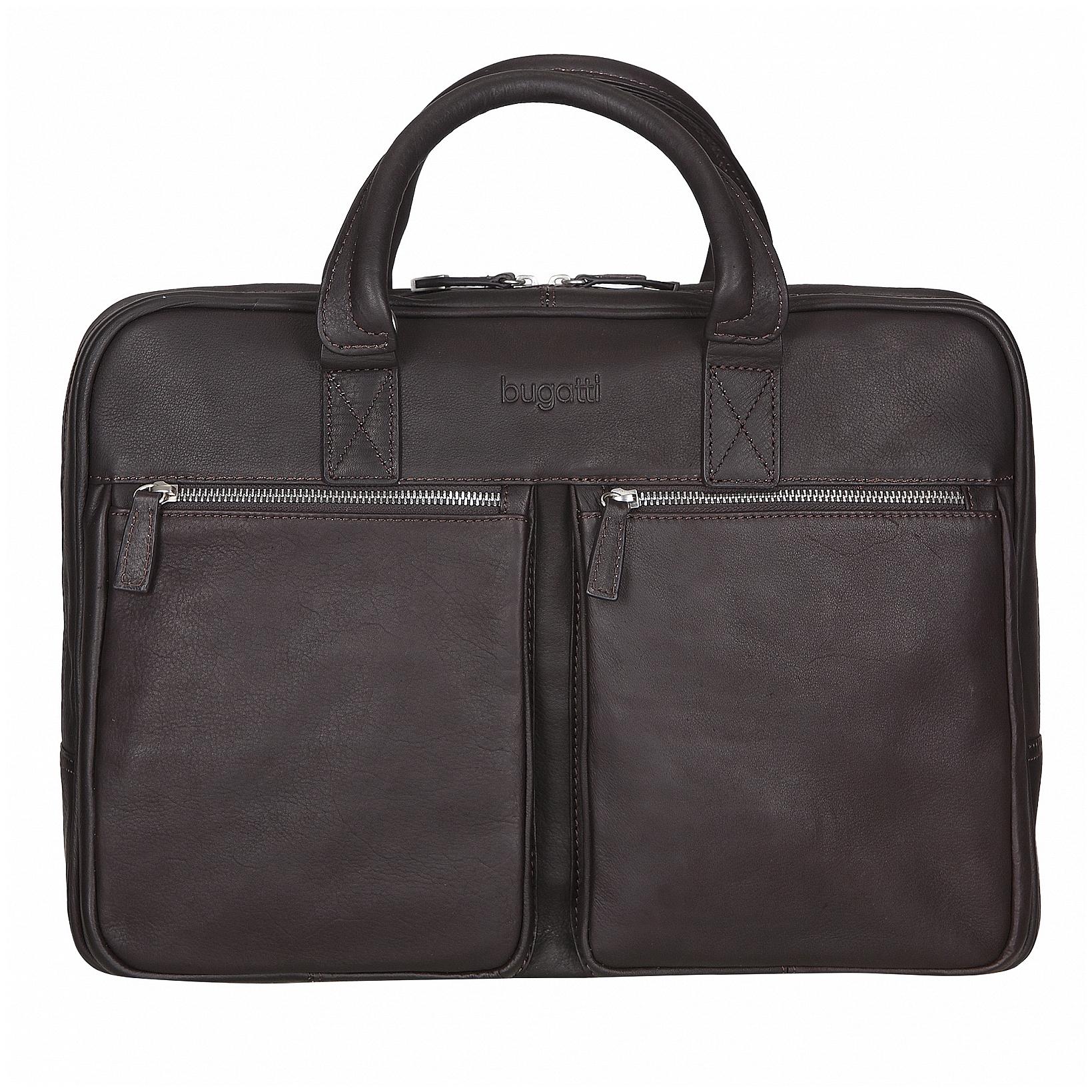 Bugatti Kožená business taška na notebook a tablet Sartoria 49546002 hnědá
