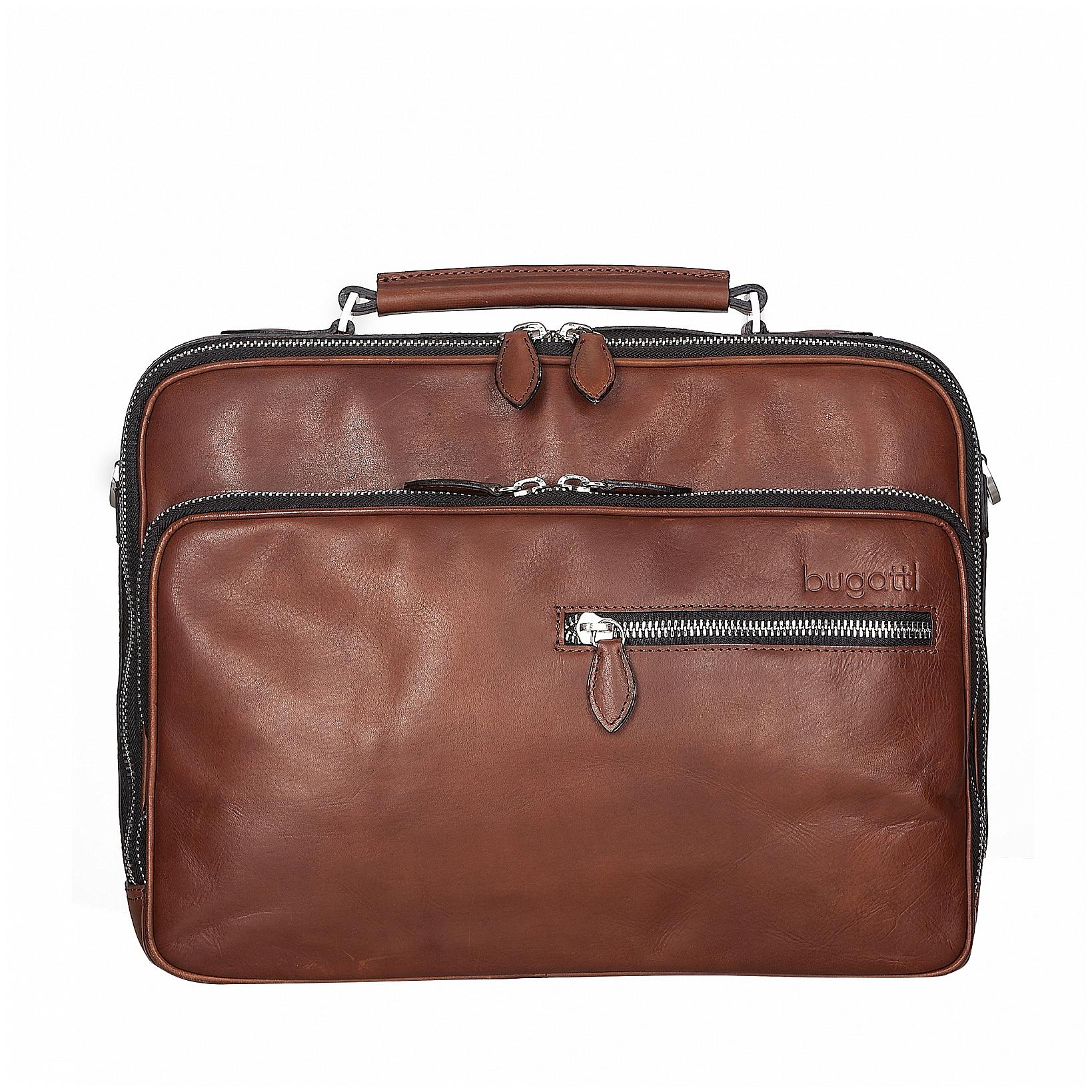 Bugatti Kožená business taška Domus 49545407 koňak