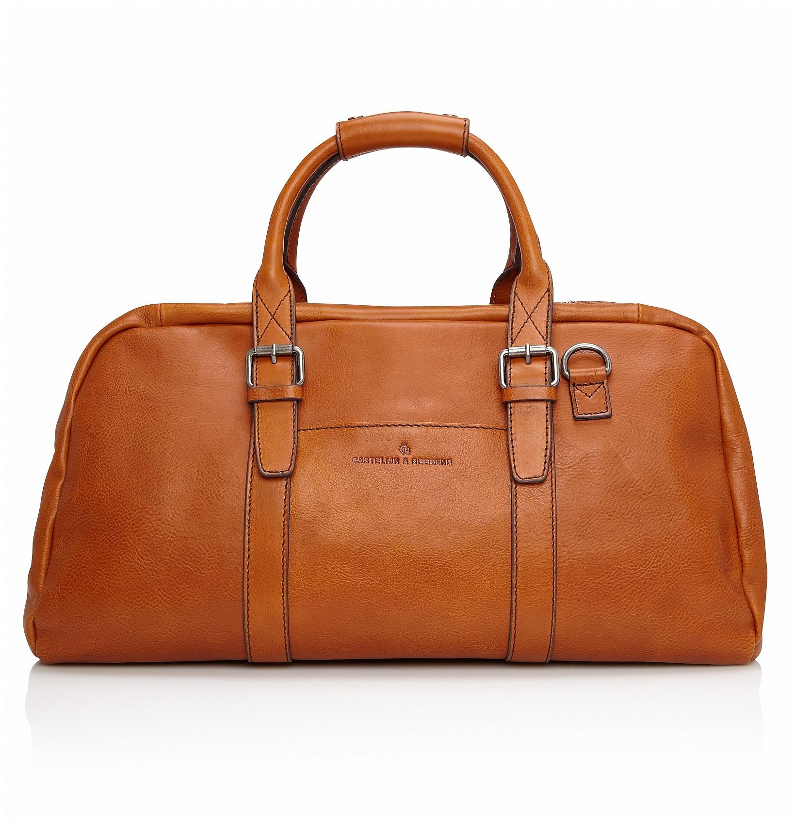 Castelijn & Beerens Elegantní kožená cestovní taška 639320 Bravo koňak