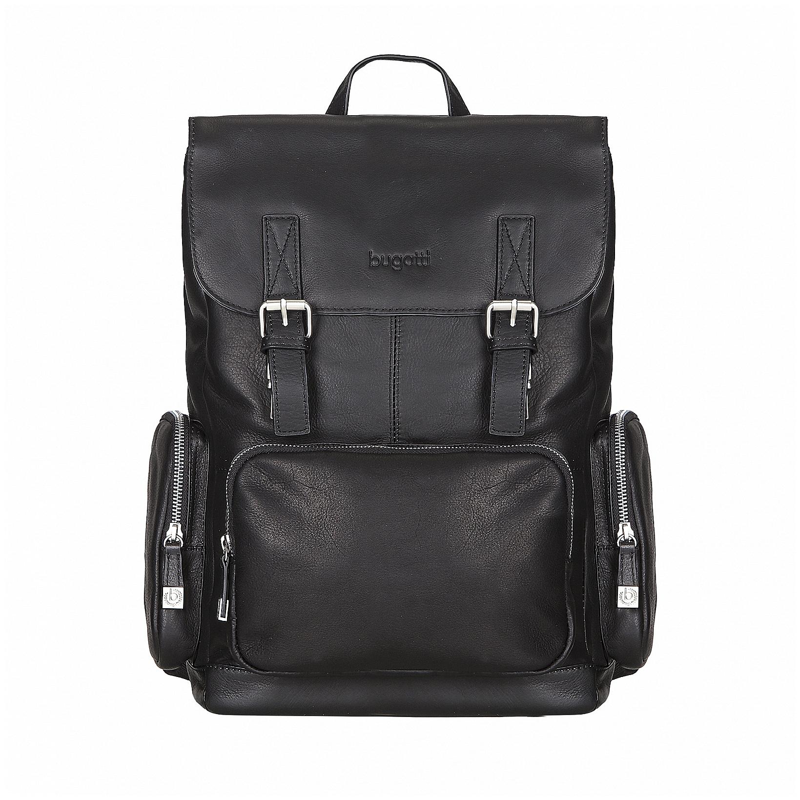 Bugatti Stylový kožený batoh na notebook Sartoria 49546301 černý