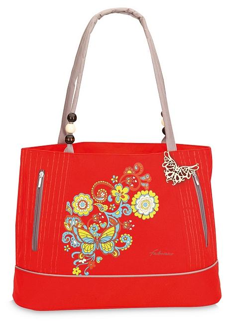 Fabrizio Letní taška - Plážová taška 50151-0200 červená