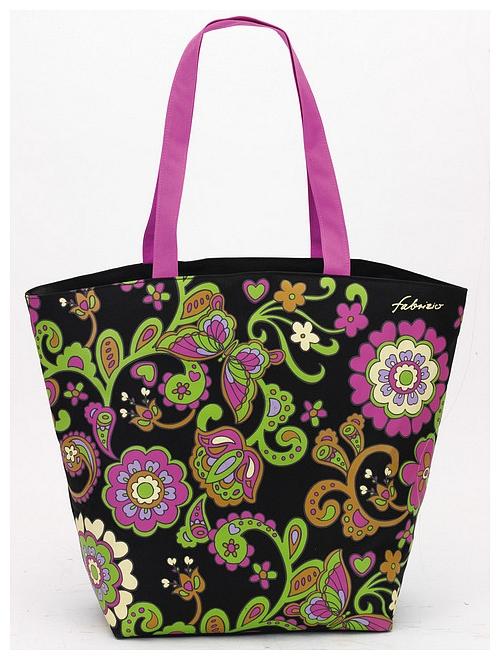 Fabrizio Letní taška - Plážová taška 50133-0100 černá - multicolor