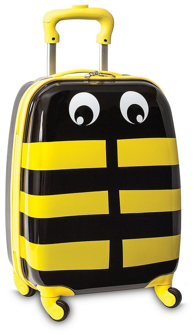 Fabrizio Dětský kufr na kolečkách 20345 včelka černo-žlutá