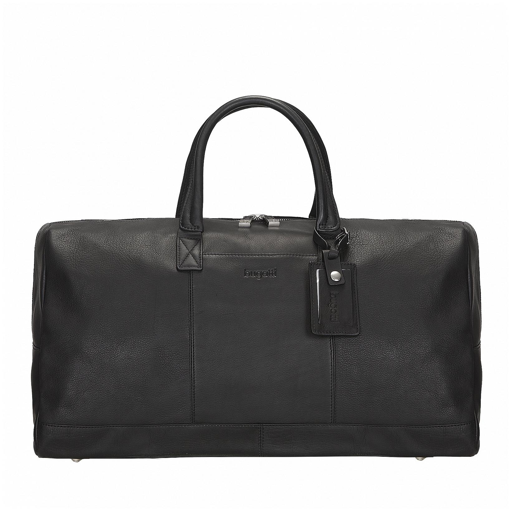 Bugatti Kožená cestovní taška SARTORIA 49546501 černá