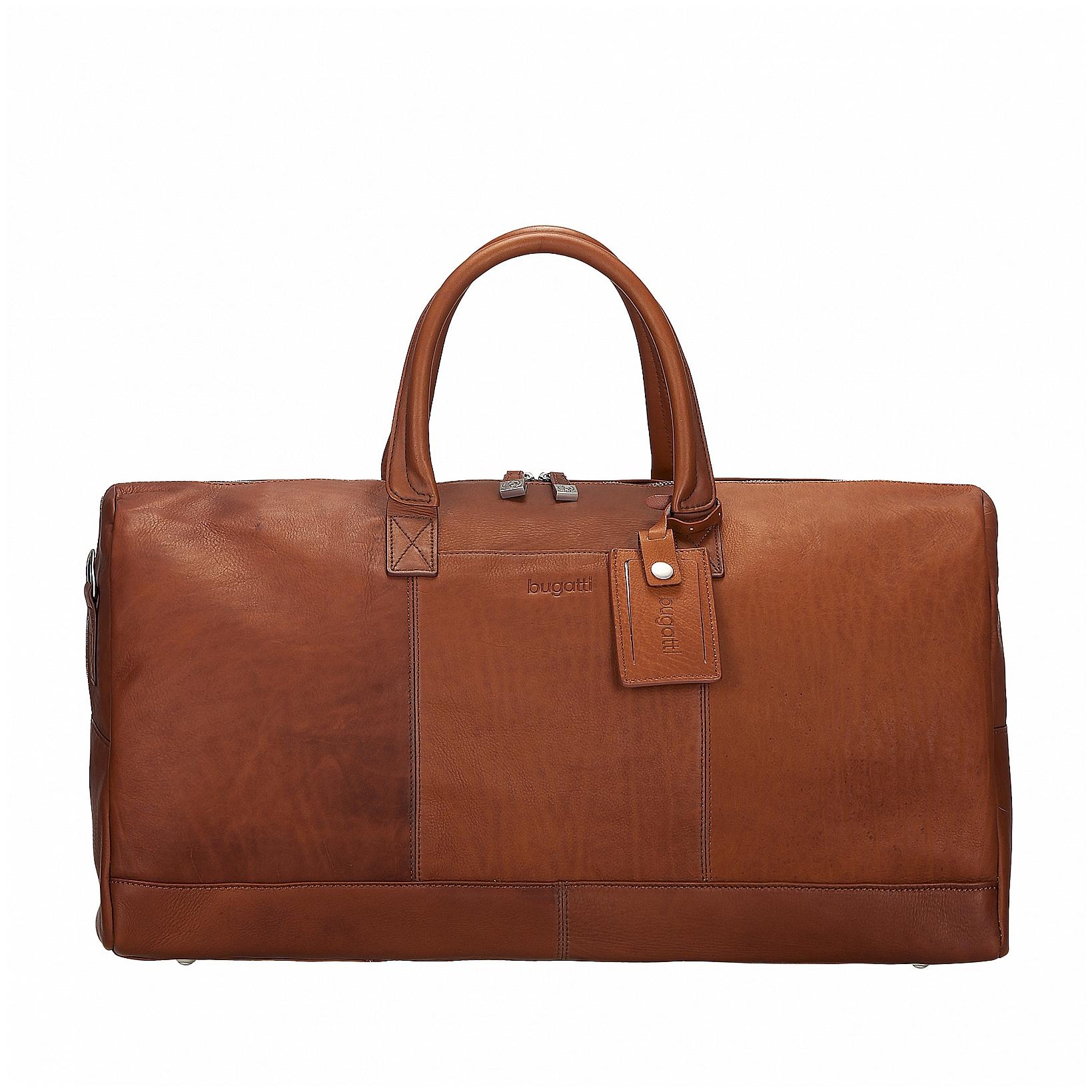 Bugatti Kožená cestovní taška SARTORIA 49546507 koňak