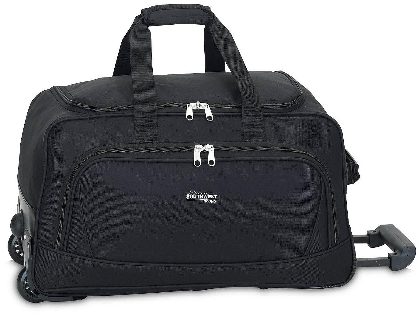 Southwest Cestovní taška na kolečkách 30207-0100 černá