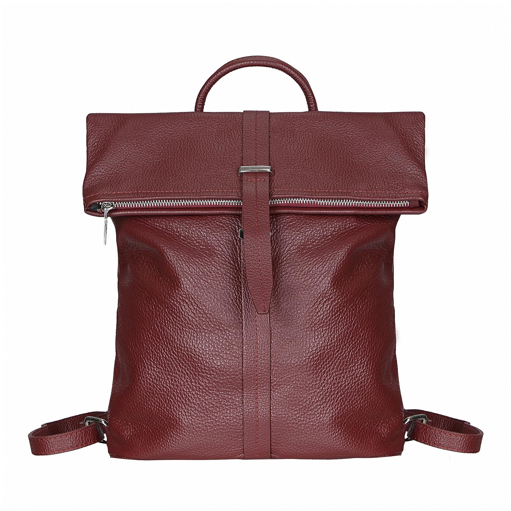 ESTELLE Dámský kožený batoh do města 1317 bordó b70719b21f