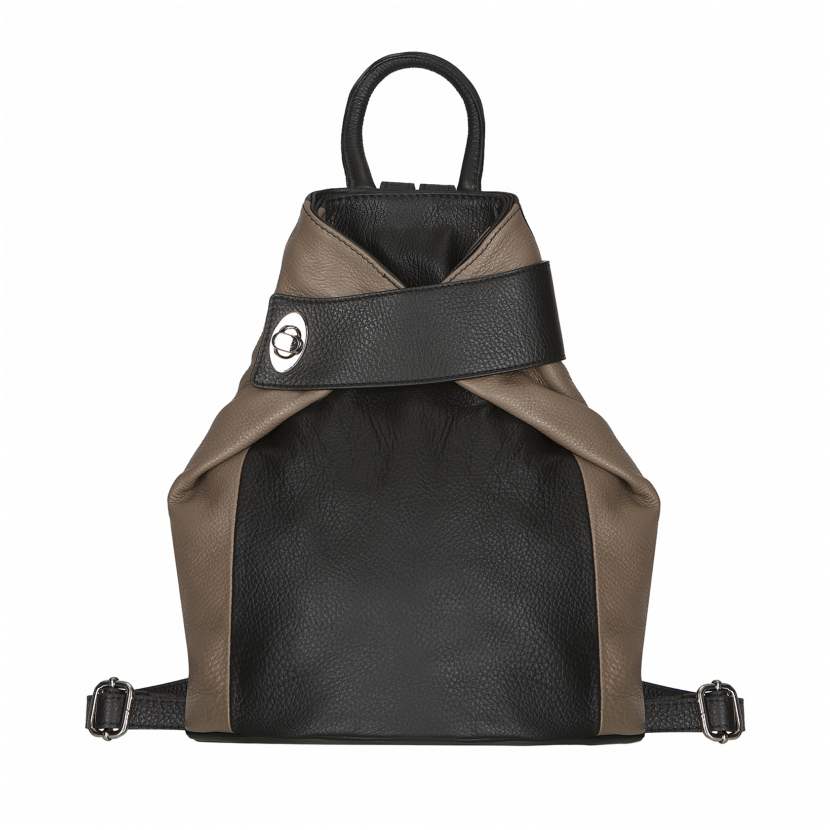 ESTELLE Dámský kožený batoh 0960 černo-béžový