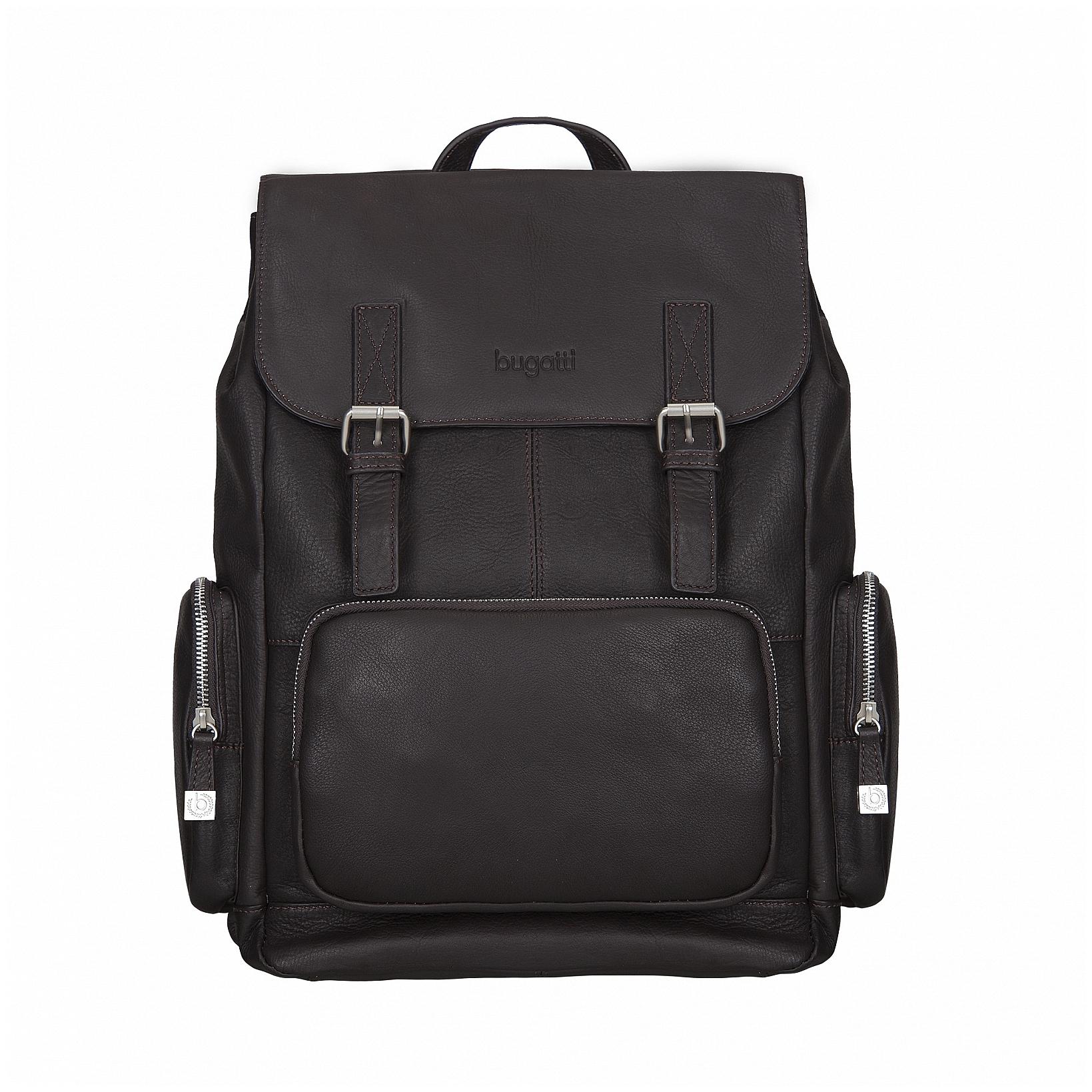 Bugatti Stylový kožený batoh na notebook Sartoria 49546302 hnědý