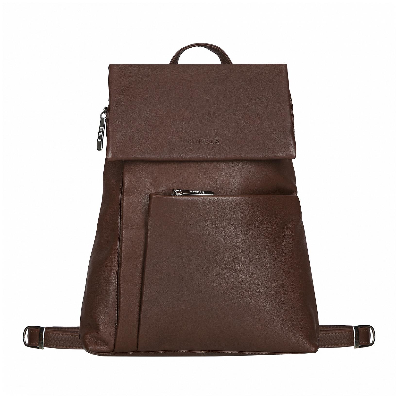 82352806dff ESTELLE Dámský kožený batoh 0145 hnědý