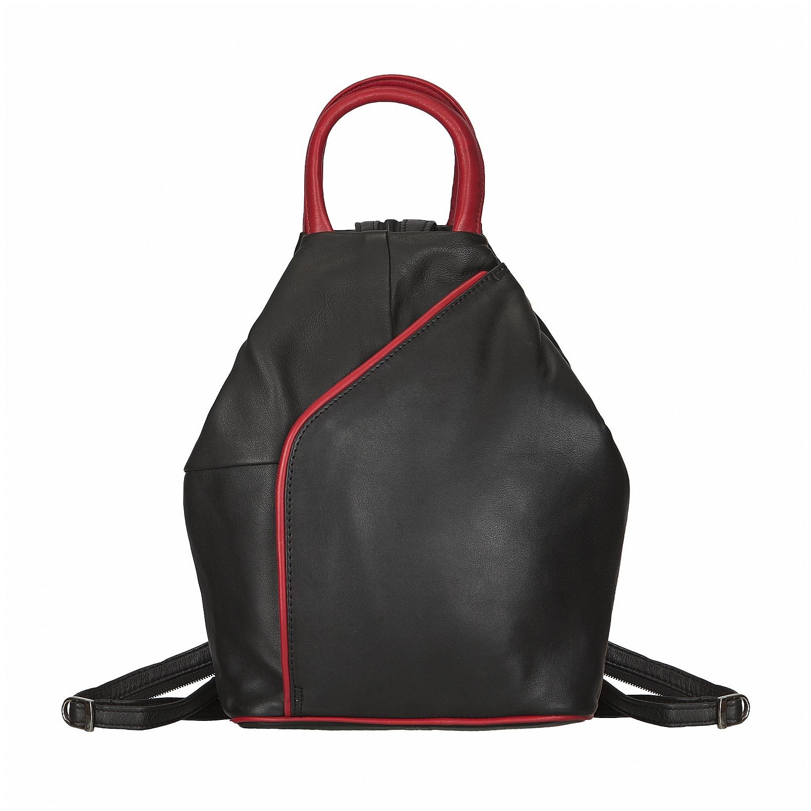 ESTELLE Kožený batůžek do města 1316-22 černo-červená