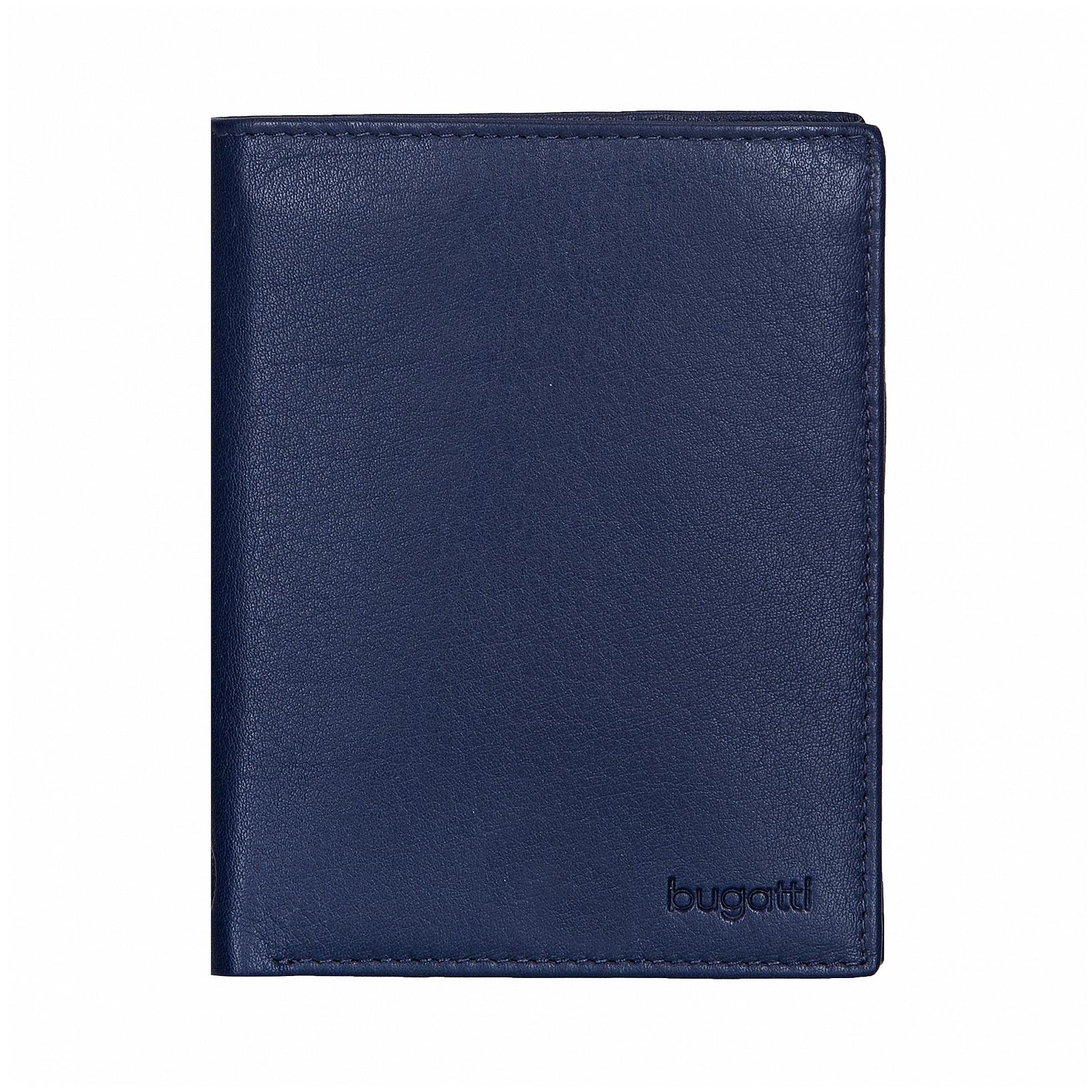 Bugatti Pánská kožená peněženka SEMPRE 49117605 modrá
