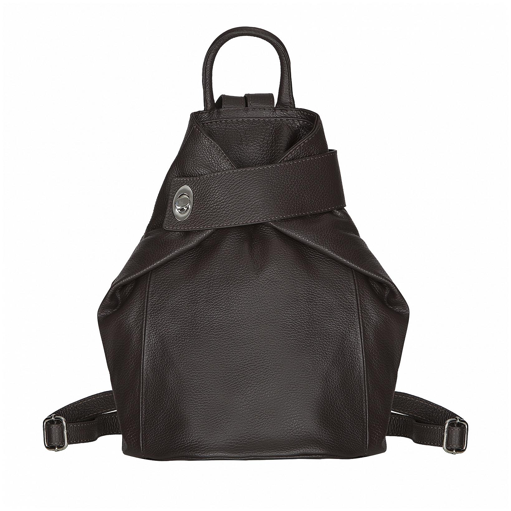 ESTELLE Dámský kožený batoh 0960 tmavě hnědá