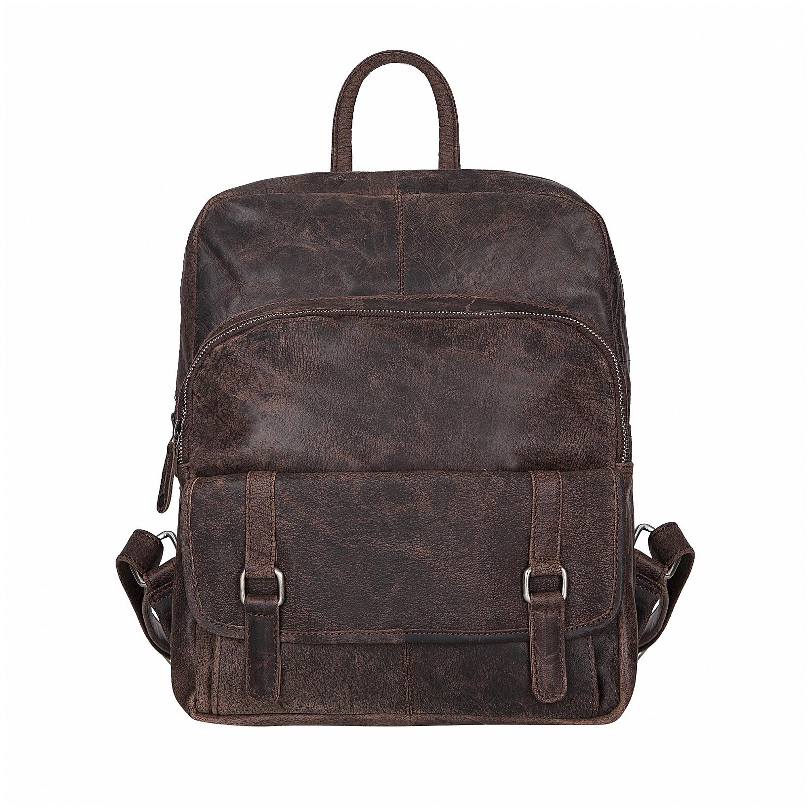ESTELLE Kožený batoh 1294-05 tmavě hnědý