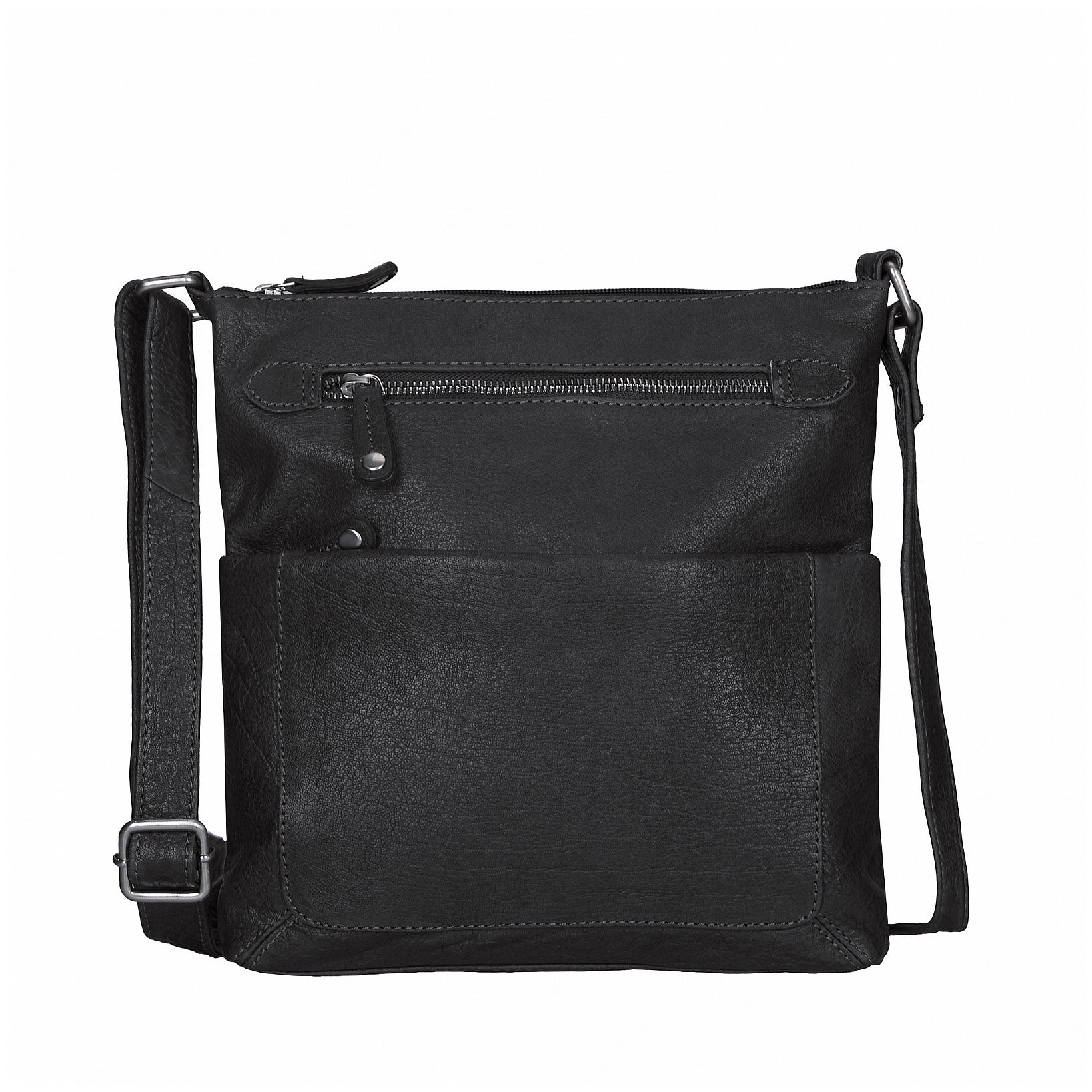 ESTELLE Kožená kabelka přes rameno 1033 černá