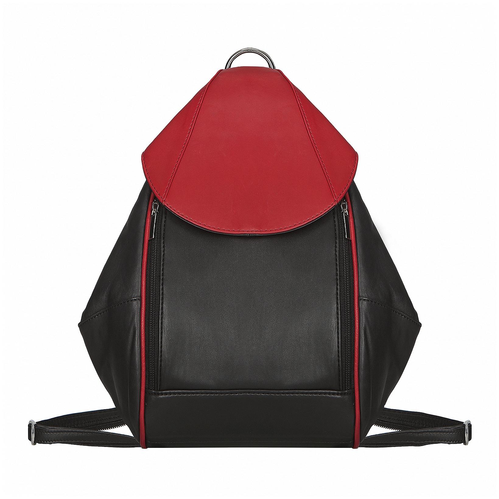 ESTELLE Kožený batůžek do města 1313 černo-červená