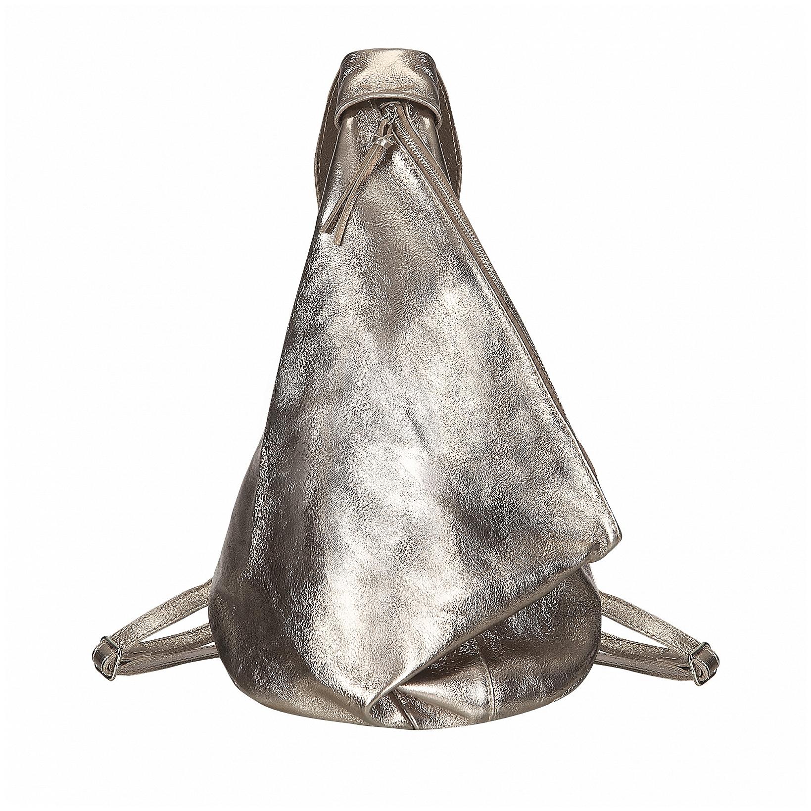 ESTELLE Stylový kožený batoh 1383 zlatý