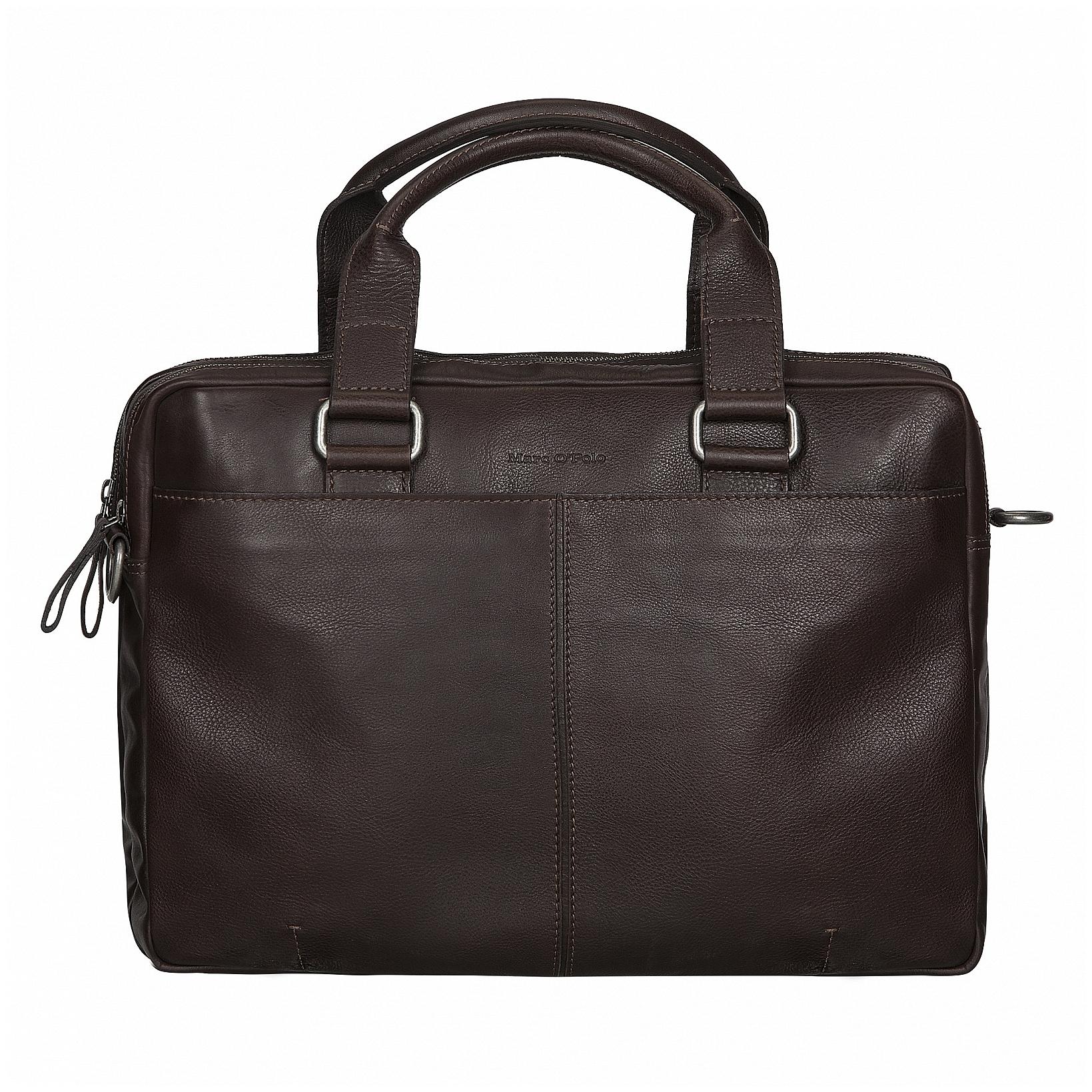 Marc O´Polo Kožená business taška na notebook a tablet B01 26542702 103 790 tmavě hnědá