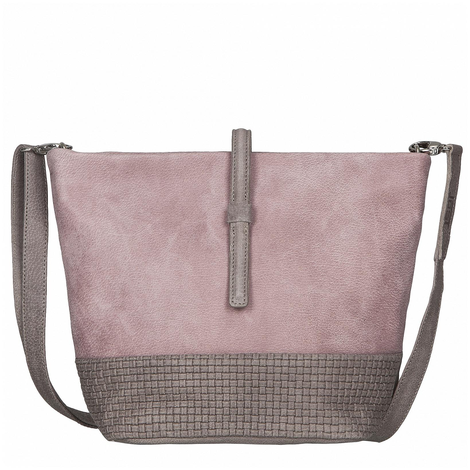 JOST Dámská kožená taška přes rameno TRECCIA 2591-995 růžovo-béžová