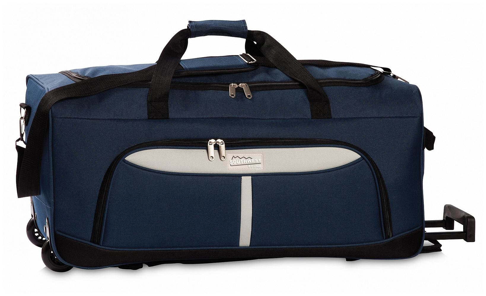 Southwest Cestovní taška na kolečkách 30288-0628 tmavě modrá /šedá