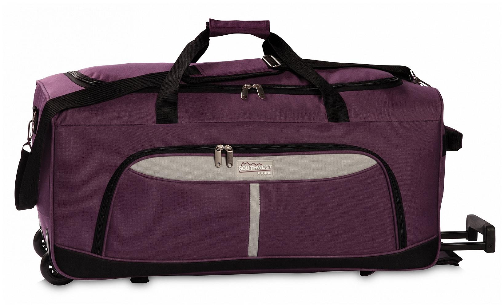 Southwest Cestovní taška na kolečkách 30288-3128 fuchsie /šedá